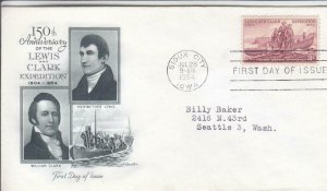 1954, 150th Anniv. Lewis & Clark Expedition, Artmaster, FDC (D14831)