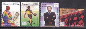 Ghana 2004 Athens Olympic Games Hystory set 4v MNH