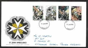 Great Britain Sc#1180-1183 St John Ambulance (1987) FDC