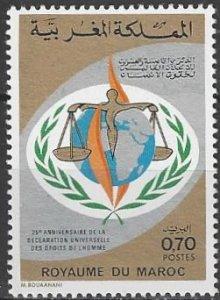 Morocco  312  MNH  UN Human Rights  25th Anniversary