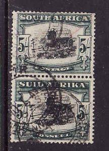 South Africa-Sc#65-used pair-5sh brt grn & blk-Ox Wagon-1