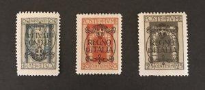 Fiume 1924 #187-88-90 MH SCV $7.20