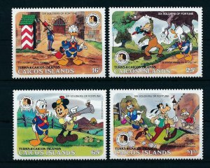 [22180] Caicos Islands 1985 Disney Characters 200th Birthday Brothers Grimm MNH