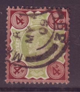 J13972 JLstamps 1902-11 great britain used #133 king $35.00 scv