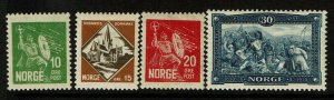 Norway SC# 150-153, Mint Hinged, Hinge Remnant, see notes - S9400