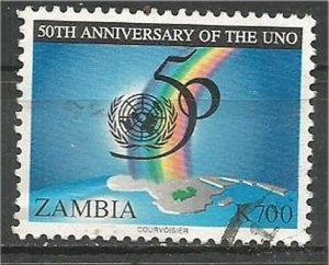 ZAMBIA , 1995, used 700k, UN Scott 649