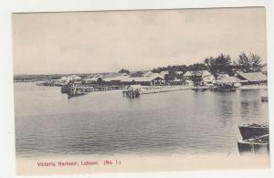 LABUAN, c1920 ppc., VICTORIA HARBOUR, unused.