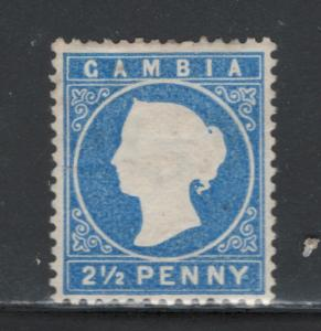 Gambia 1886 Queen Victoria 2 1/2p Scott # 15 MH NG