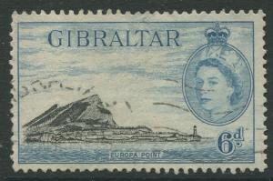 Gibraltar #140 QEII  Used  Scott CV. $2.00.