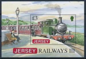 [61360] Jersey 2009 Railway Train Elsenbahn Chemin De Fer Souvenir Sheet MNH