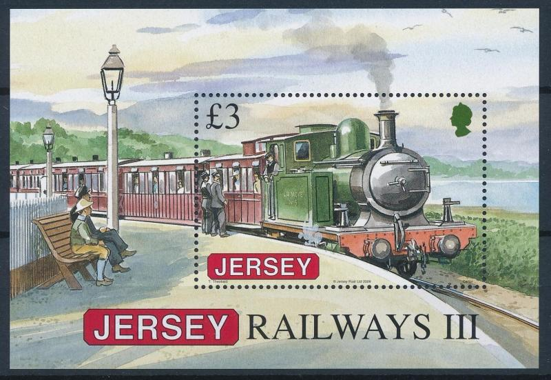 [61360] Jersey 2009 Railway Train Elsenbahn Chemin De Fer Souvenir Sheet MNH