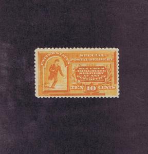 SCOTT# E3 UNUSED OG NH 10c SPECIAL DELIVERY MESSENGER, 1893, PSAG CERT.