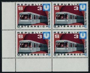 Austria 1073 BL Block MNH Vienna Subway