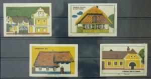 Match Box Labels ! architecture construction house houses GN1