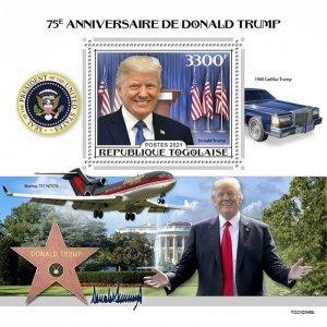 TOGO - 2021 - Donald Trump - Perf Souv Sheet - Mint Never Hinged