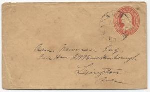 US Postal Sationery Cover Nov 14, 1850 to 1865 Kawawha, VA Nesbit