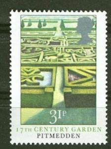 Great Britain # 1030  17th Cent. Garden (1) Mint NH