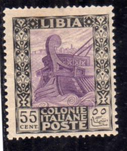 LIBIA 1921 PITTORICA CENT. 55c MLH