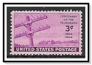 US #924 Telegraph Issue MNH