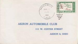 United States Ohio Macedonia 1961 numeral duplex  1908-1965.