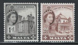 Malta 1963 Queen Elizabeth II Scott # 296 - 297 MH