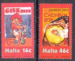 Malta Sc# 1123-1124 MNH 2003 Europa