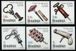 HERRICKSTAMP NEW ISSUES ROMANIA Sc.# 5921-26 Corkscrews