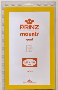 Prinz SCOTT Stamp Mount 265/151 BLACK Background Pack of 5