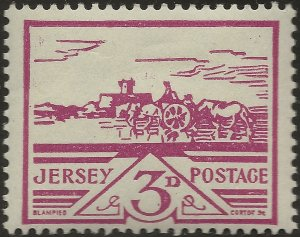 Jersey German Occupation 1943-4 3d violet MINT MNH SG 8
