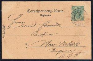 ÖSTERREICH BOSNIEN 1900. POSTKARTE 3 Kreuzer als Porto von 5 heller INTERSTING