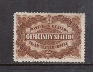 Canada #OX1 VF Used **With Certificate**