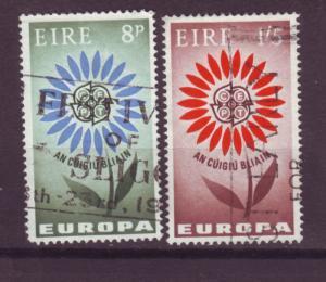 J16369 JLstamps 1964 ireland set used #196-7 europa
