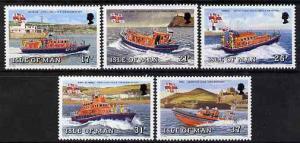 Isle of Man 1991 Manx Lifeboats set of 5 unmounted mint, ...