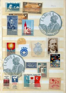 France Old/Modern MH MNH Poster Labels (Appx 65) (NT 3419
