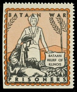 US Bataan War Prisoners (WWII Philippines POWs)  ( US Poster Stamp ) NH