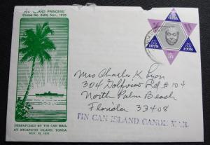 Tonga #C246 Used Cover Tin Can Mail King Taufa'ahau L16