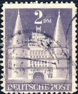 ALLEMAGNE / GERMANY Bizone 1948 Mi.98.YIIB(98.IIwg) 2DM T.2 p.11 - VF Used (a)