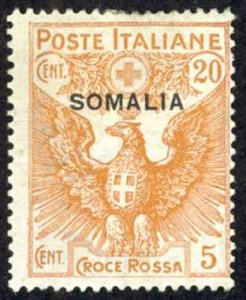 Somalia Sc# B3 MH 1916 20c + 5c Semi Postal Overprint