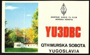 QSL QSO RADIO CARD YU3DBC,,Photo of Antenna,Murska Sobota, Yugoslavia (Q2658)
