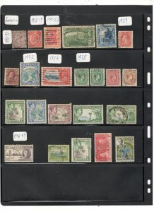 JAMAICA COLLECTION ON STOCK SHEET, MINT/USED