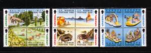Jersey Sc 614-25 1993 views no value indicator stamp mint NH