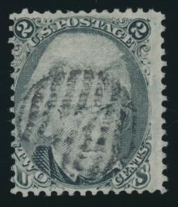 #87 2c FINE USED WITH BLACK GRID CANCEL CV $180 AU883