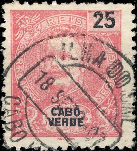 CAP VERT / CABO VERDE - 1901  ILHA DO SAL  cds on Mi.78 25R rose-red