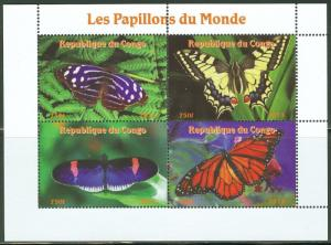 Congo MNH S/S Butterflies Of The World 2013