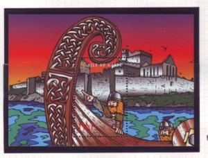 Isle of Man Sc 775 1998 Viking Longships stamp souvenir sheet mint NH