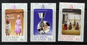 SOLOMON ISLANDS QE II 1977 Silver Jubilee Complete Set SG 334 to SG 336 MNH