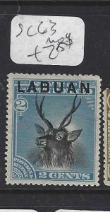 LABUAN   (P1709B)   2C  DEER  SG  63   MOG