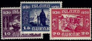 Iceland Althing Trio #155,156 &157 Mint F-VF hr SCV$68...Fill some key spots!!
