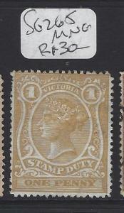 VICTORIA  (P2607B)       1D   SG 265   MNG