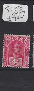 SARAWAK  (P2911B)  BROOKE 4C      SG  53A     MOG